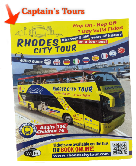 Captains Tours Rhodes City Open Bus Tour Brochure