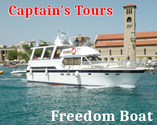 Freedom SM Boat | Captains Tours Rhodes Greece