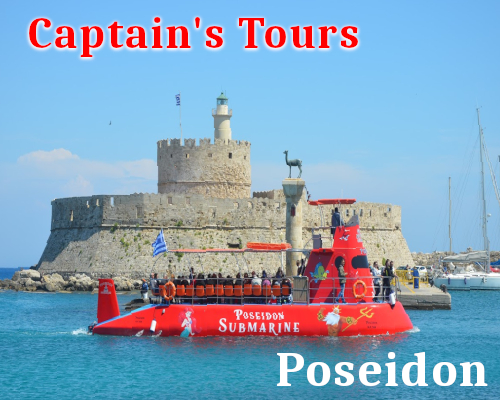 Poseidon Submarine 360 | Captains Tours Rhodes Greece