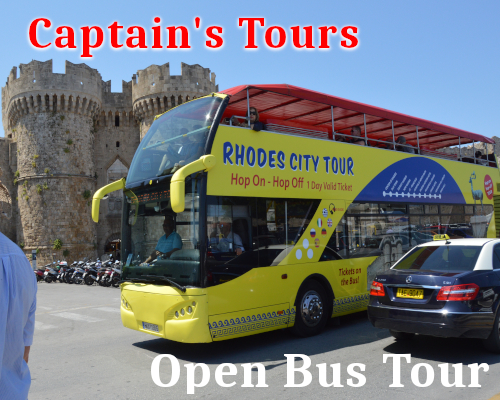 Rhodes City OpenBus Tour | Captains Tours Rhodes Greece